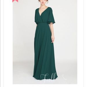Emerald Tulle and Chantilly bridesmaid dress.